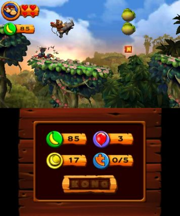 Donkey Kong Country Returns 3D Review : Game Over Online