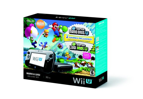 Mario and Luigi Wii U Deluxe Bundle Box Art
